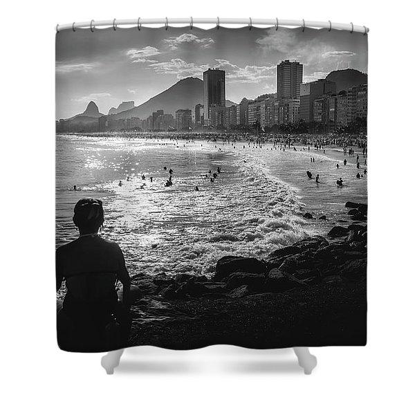 Fine Art Copacabana Rio De Janeiro, Brazil Shower Curtain
