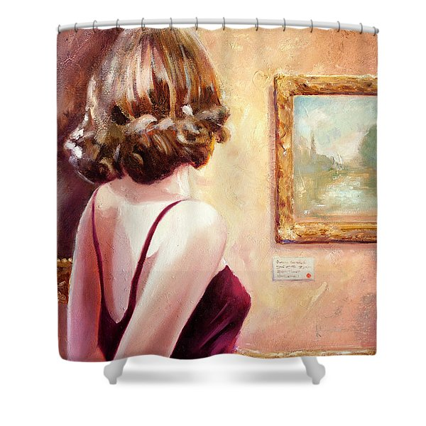 Fine Art Gallery Opening Night Shower Curtain