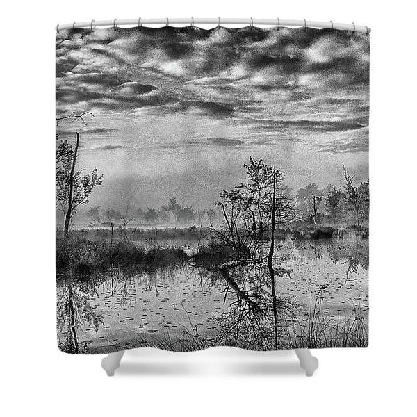 Fine Art Jersey Pines Landscape Shower Curtain