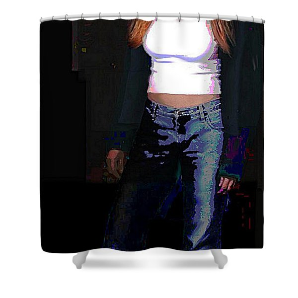 Fine Art Traditional Modern Original Digital Art Work Eva Shower Curtain