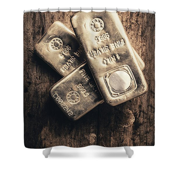 Fine Silver 999 Shower Curtain