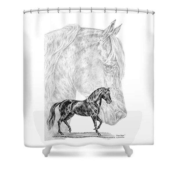 Fine Steps - Paso Fino Horse Print Shower Curtain