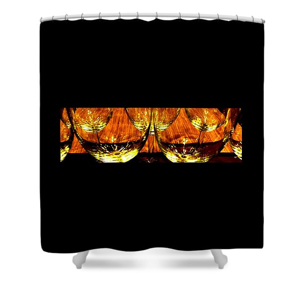 Fine Wine And Dine 3 Shower Curtain