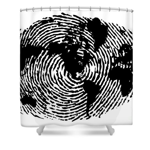 fingerprint 20X30 Shower Curtain