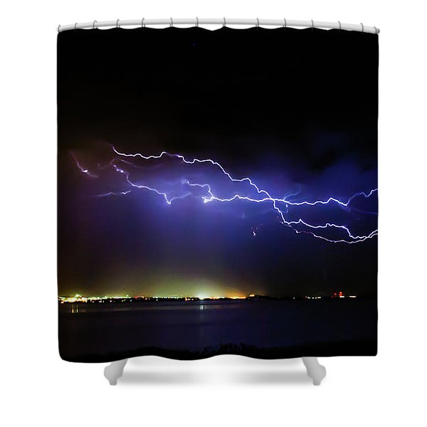 Fingers Across The Lake Shower Curtain