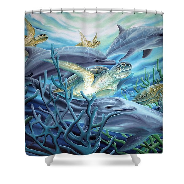 Fins And Flippers Shower Curtain