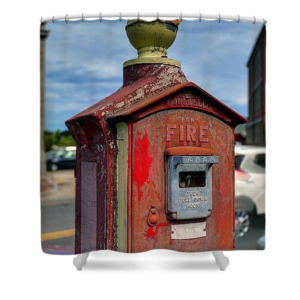 Fire Alarm Box 375 Shower Curtain