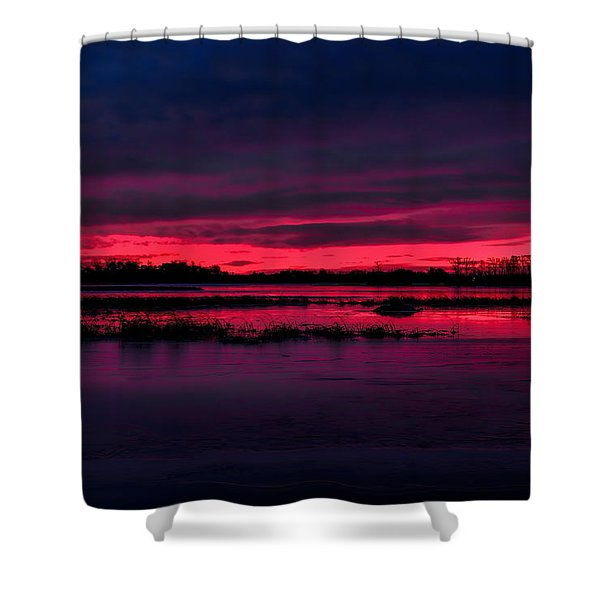 Fire And Ice Sunrise Shower Curtain