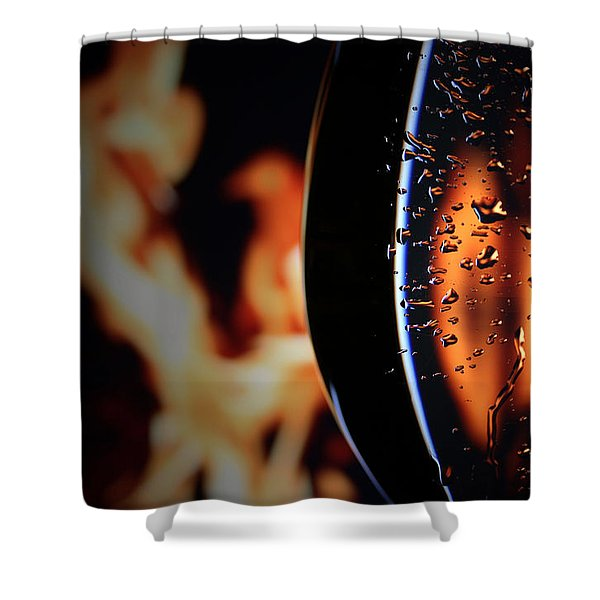 Fire And Rain Shower Curtain