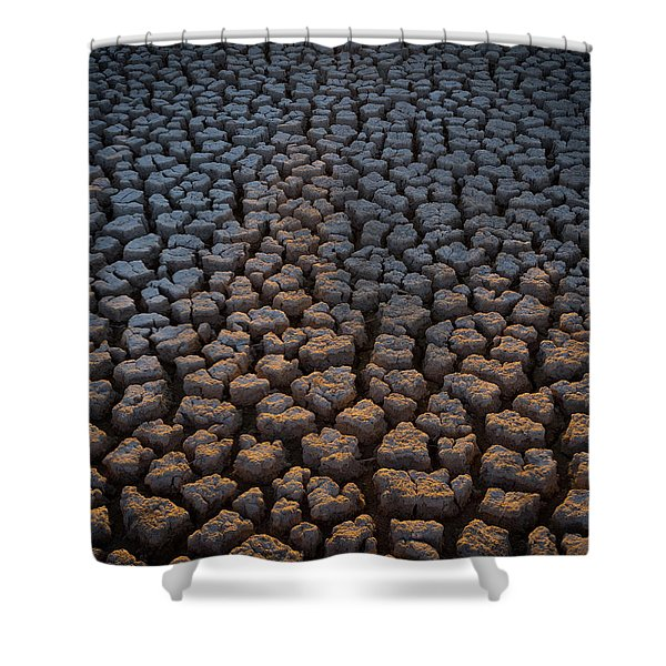 Fire Cracks Shower Curtain