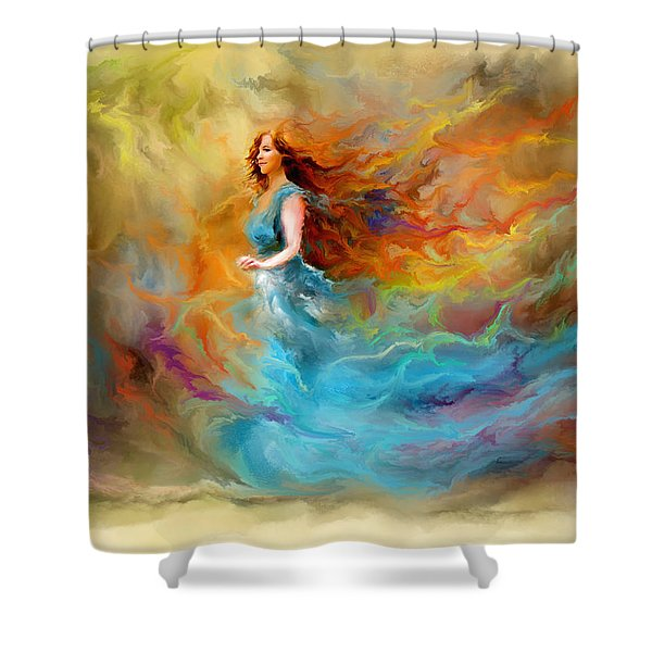 Fire Dancer Shower Curtain