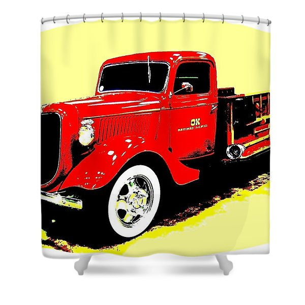 Fire Engine Ok Shower Curtain
