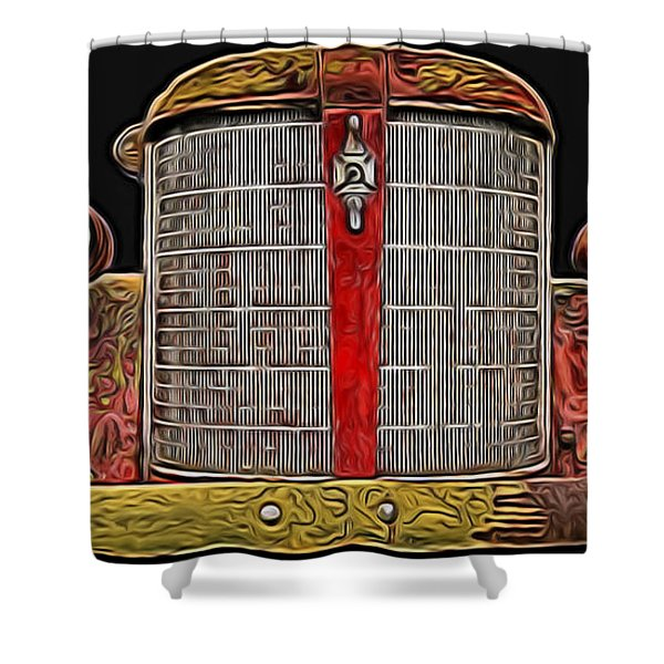 Fire Engine Red Shower Curtain