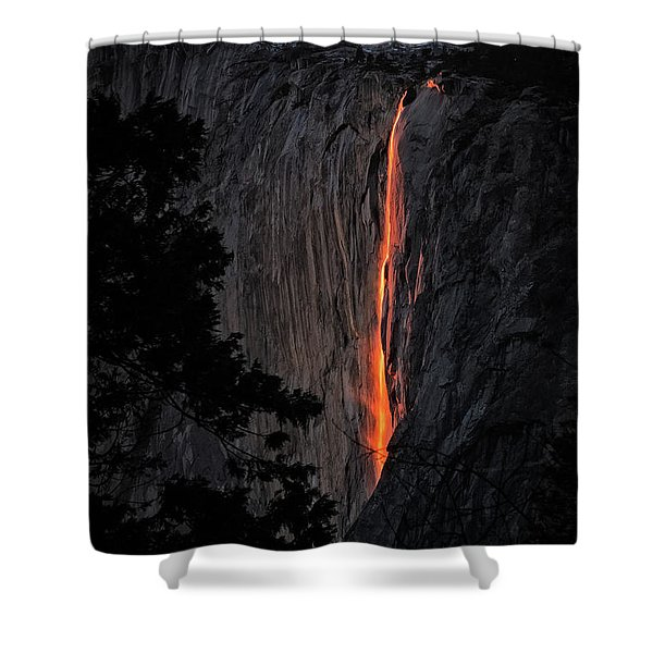 Fire Fall Shower Curtain