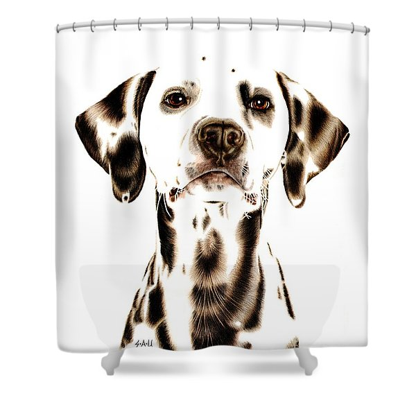 Fire Fighter's Best Friend Shower Curtain