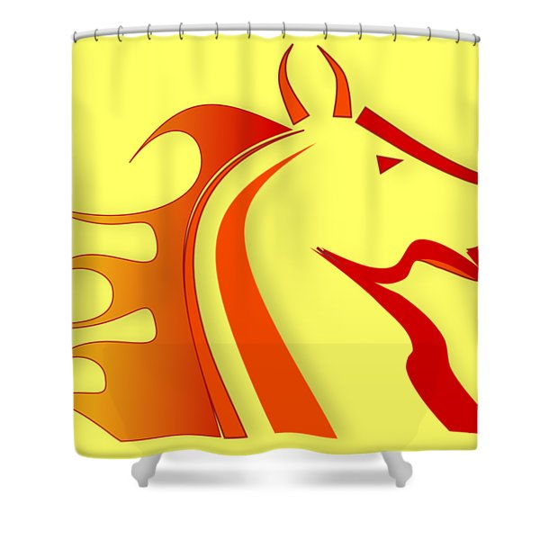 Fire Horse Shower Curtain