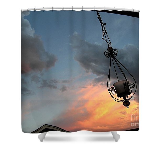 Fire In The Clouds Shower Curtain