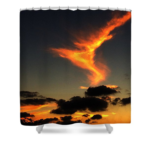 Early Evening Over Paros Island Shower Curtain