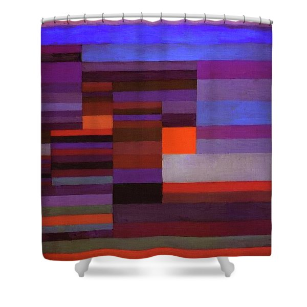 Fire In The Evening Shower Curtain
