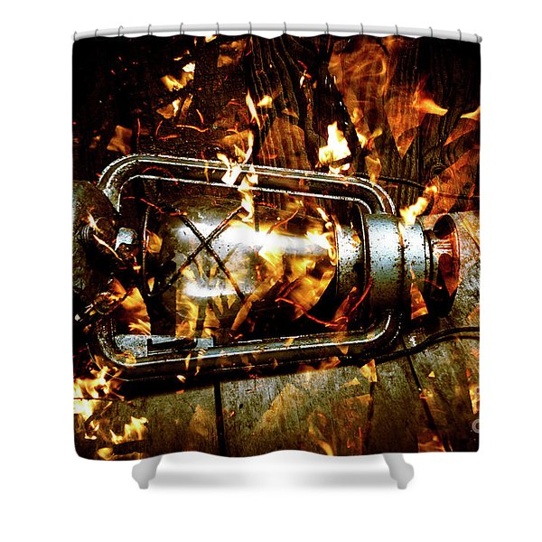 Fire In The Hen House Shower Curtain