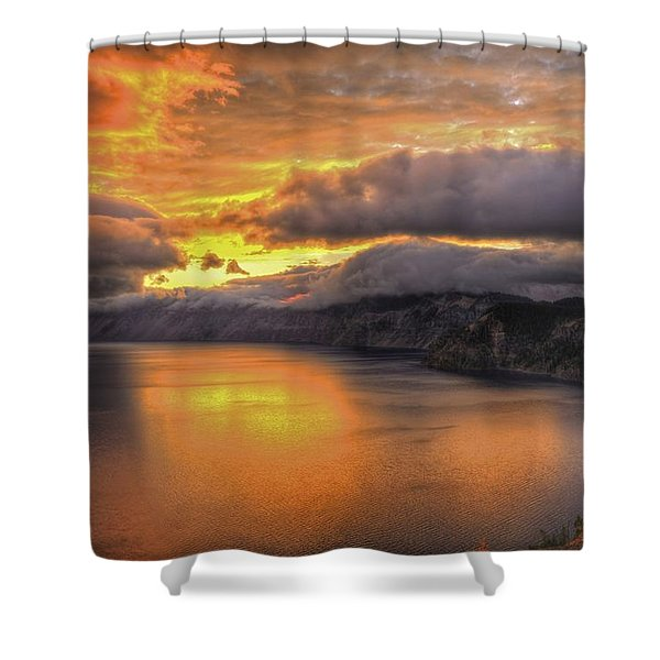 Fire In The Lake #1 Shower Curtain