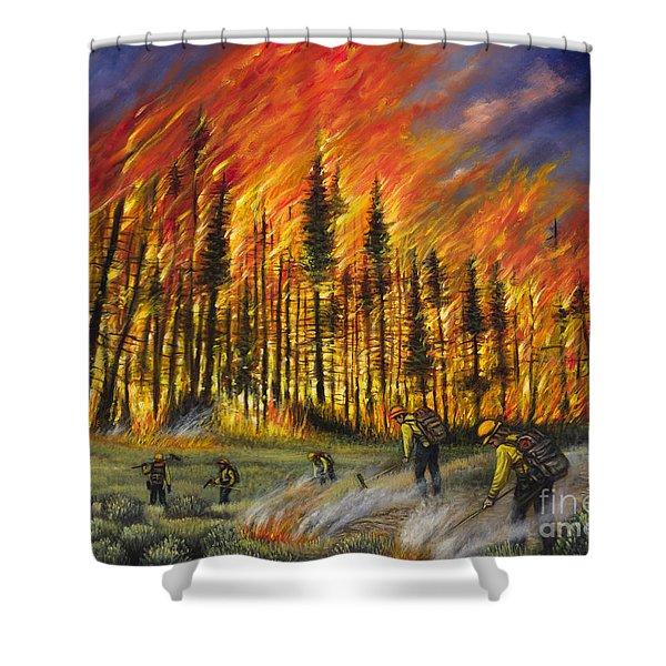 Fire Line 1 Shower Curtain