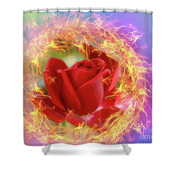 Fire Of Desire Shower Curtain