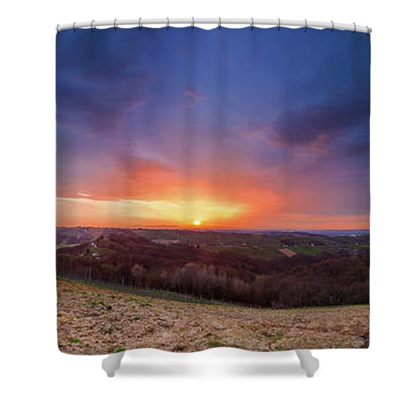 Fire On The West Side Shower Curtain