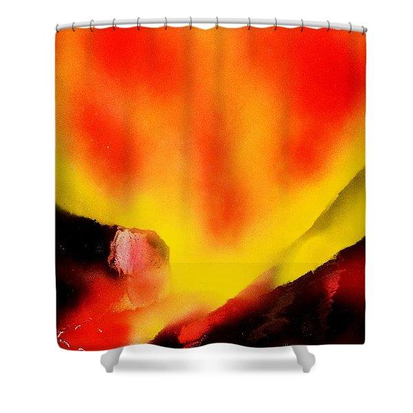 Fire Path Shower Curtain