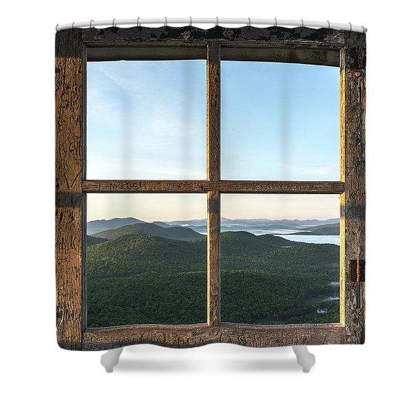 Fire Tower Frame Shower Curtain