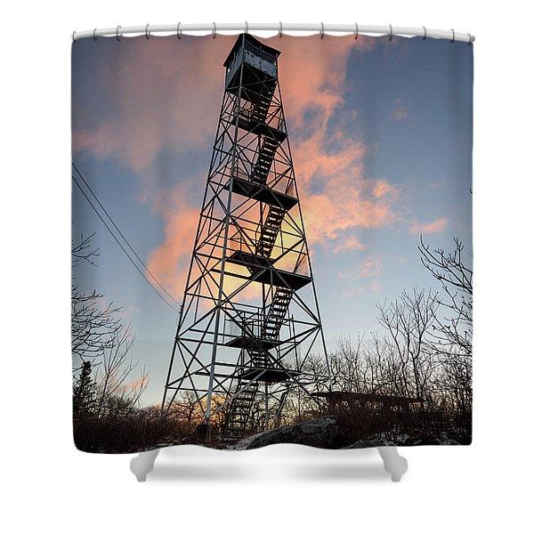 Fire Tower Sky Shower Curtain