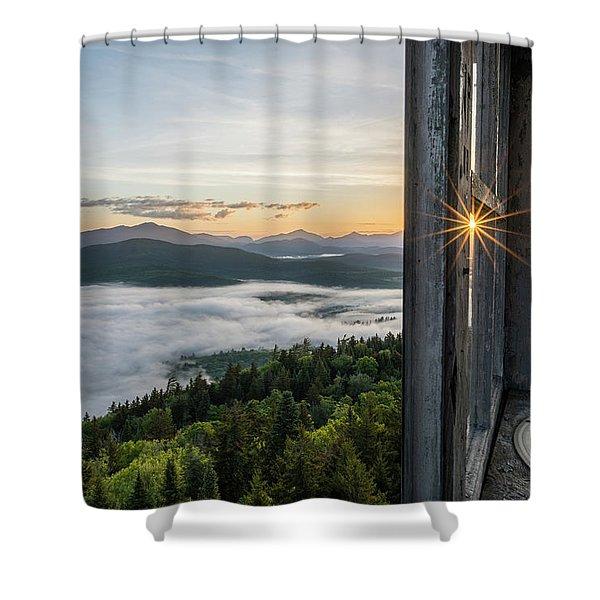 Fire Tower Sunburst Shower Curtain