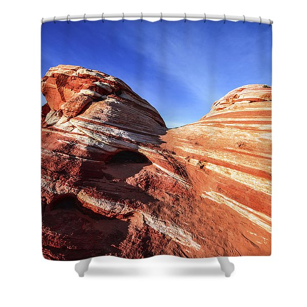 Fire Wave Shower Curtain
