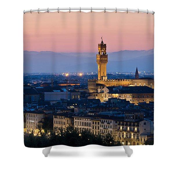 Firenze At Sunset Shower Curtain