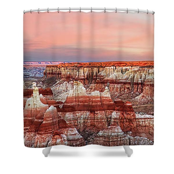 Fire's Crater On Earth Shower Curtain