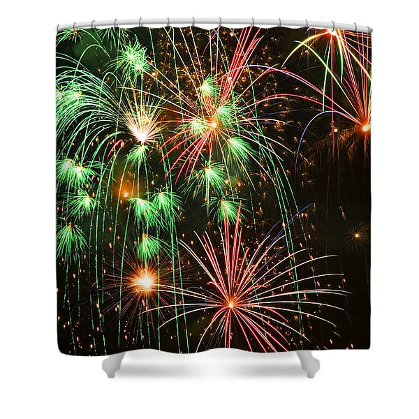 Fireworks 4th Of July Shower Curtain