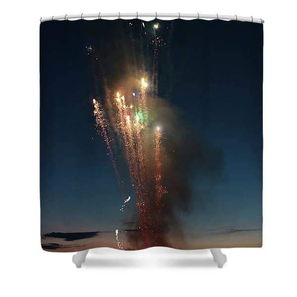 Fireworks After Sunset Shower Curtain