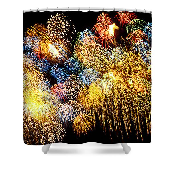 Fireworks Exploding  Shower Curtain