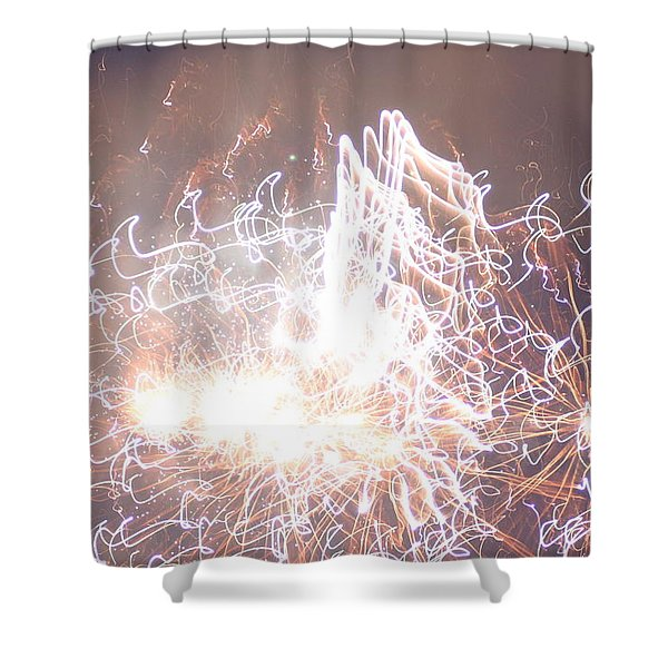 Fireworks In The Park 6 Shower Curtain