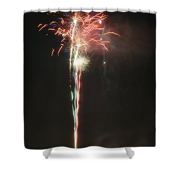 Fireworks On The Lake Shower Curtain