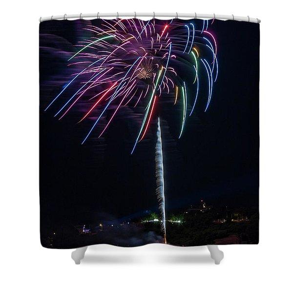 Fireworks Over Portland, Maine Shower Curtain