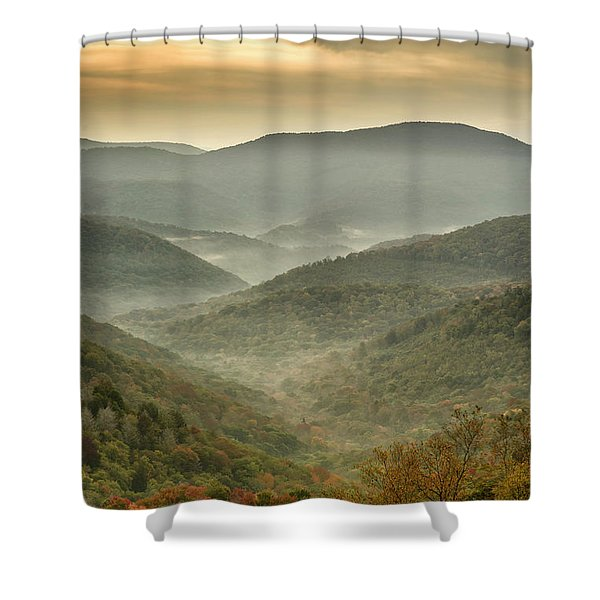 First Day Of Fall Highlands Shower Curtain