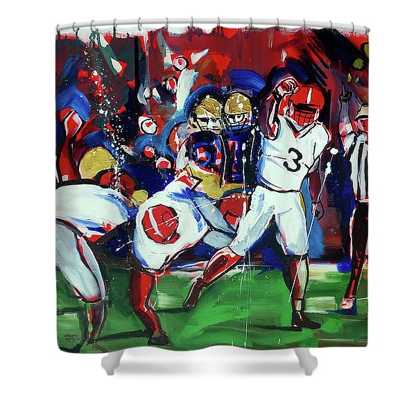 First Down Shower Curtain