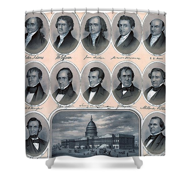 First Hundred Years Of American Presidents Shower Curtain