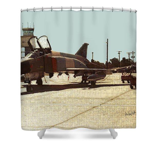First Jet Shower Curtain