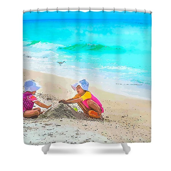 First Sand Castle Shower Curtain