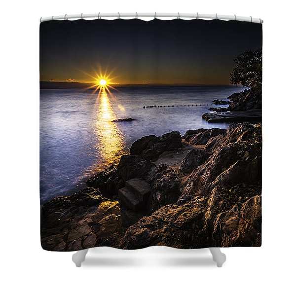 First Rays Over The Adriatic Shower Curtain