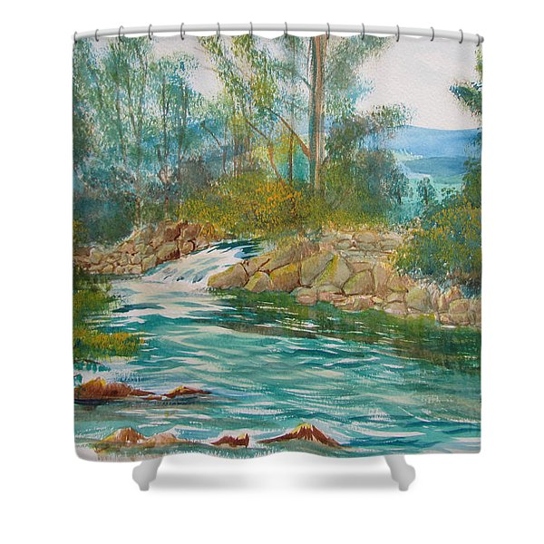 First Watercolour Shower Curtain