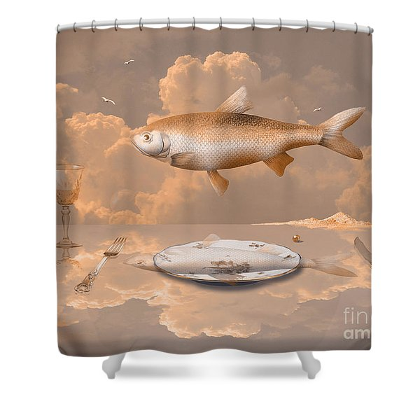 Fish Diner Shower Curtain