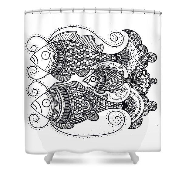 Fish Family Shower Curtain